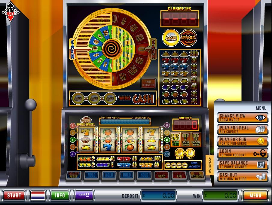 cash spinner