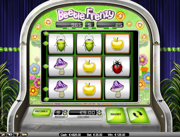 beetle frenzy fruitautomaat