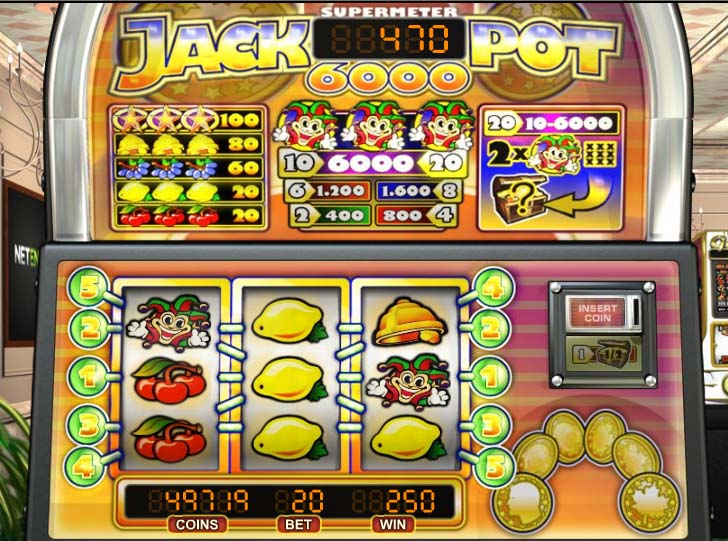 jackpot 6000 fruitautomaat